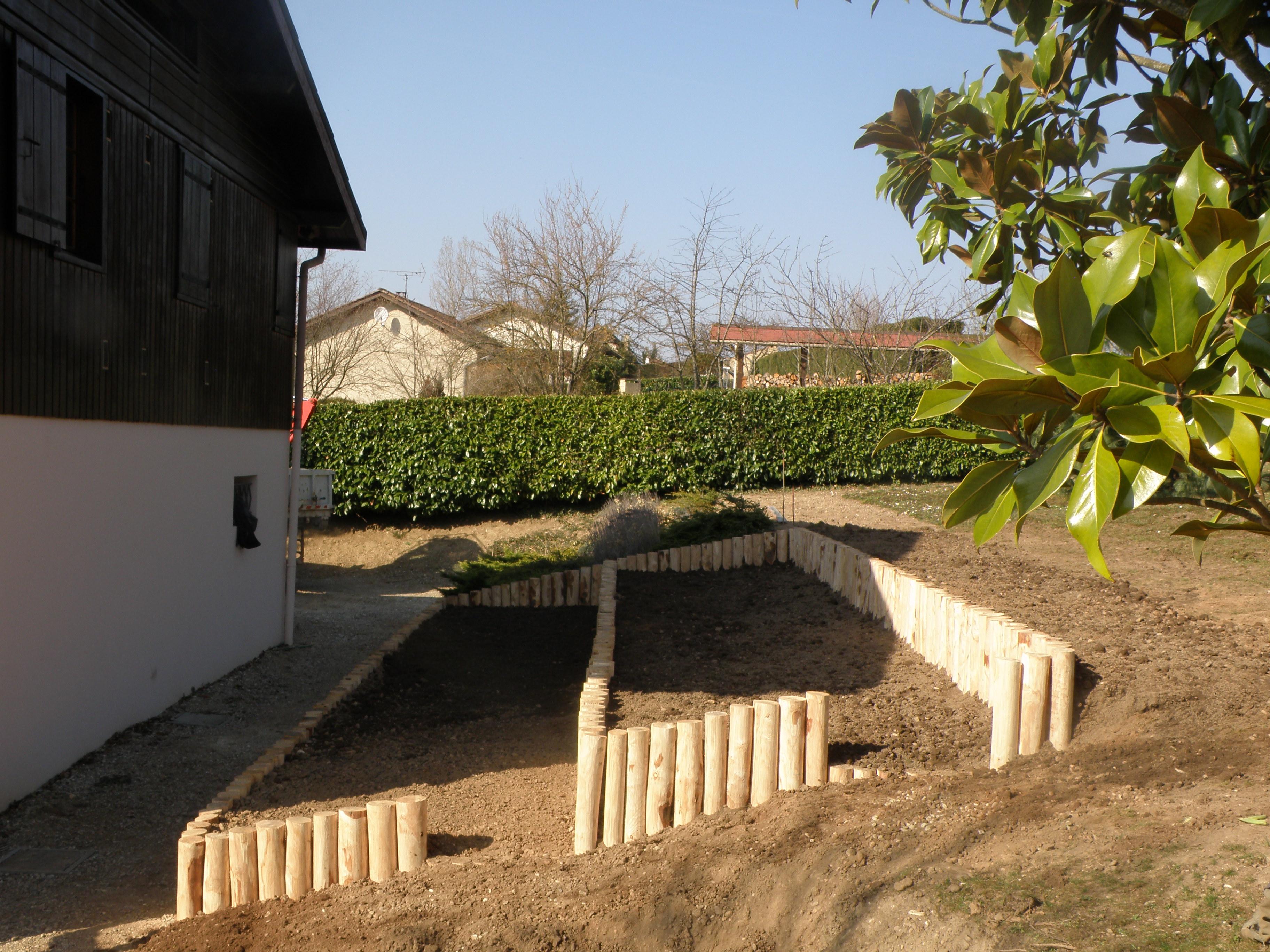 Clôtures en rondins de bois